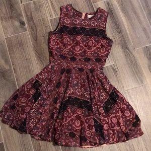 Flower Design A-Line Dress